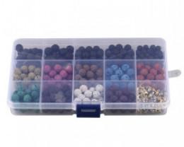 8 mm volcanic Lava Beads DIY Set     code AHA 467