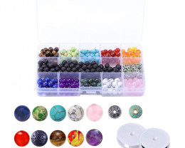 Chakra Lava   Beads and Wires   DIY Set     code AHA 475
