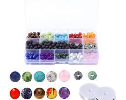 Chakra Lava   Beads and Wires   DIY Set     code AHA 476
