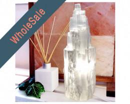 30cm Selenite Tower Lamps x4  - Wholesale