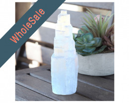 20cm Selenite Tower (No Hole) x10 - Wholesale