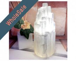 20cm Selenite Tower Lamp x4 - wholesale