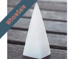 10 x Selenite Pyramid - Wholesale