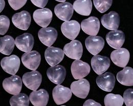 50 Lovers Heart Shape  10 mm Rose Quartz    Gemstone    AHA 472