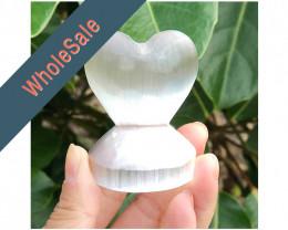 10 x Selenite Small Heart Shape - Wholesale