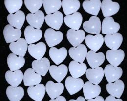 50 Lovers Heart Shape  10 mm Rock  Crystal    Gemstone    AHA 484