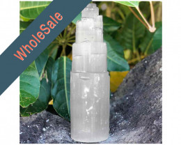 30cm Selenite Tower (No Hole) x4 - Wholesale