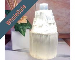 15cm Selenite Tower Lamp x4 - Wholesale