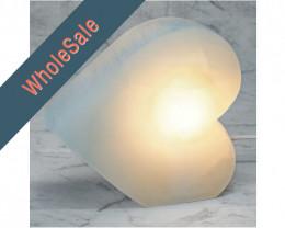 4x Selenite Heart Lamp (No Base) - Wholesale