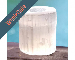 4 x Natural Shaped Selenite Tealight Candle Holder - Wholesale