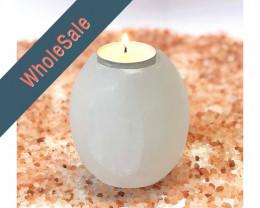 4x Tube Selenite Tealight Candle Holder - Wholesale