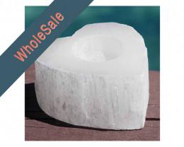 4x Heart Selenite Tealight Candle Holder - Wholesale