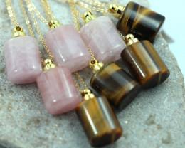 Wholesale 8 Gemstone Perfume Bottle Necklace AHA 525