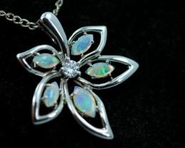 Cute Stylish Crystal Opal Pendant  CCC 3087