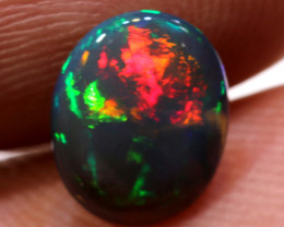 N 2 -1.40 CTS Black Crystal Opal Stone Lightning Ridge TBO-2987