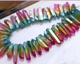 Massive Strand Electroformed Aura Rainbow Crystals AHA 552