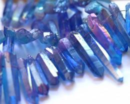 Massive Strand Electroformed Aura  Purpel Blue Crystals AHA 556