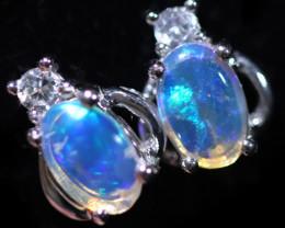 Cute Stylish Crystal Opal Earrings  CCC 3520
