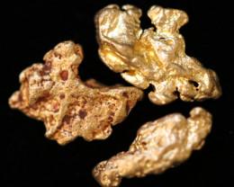 0.36-0.38  Grams - ONE NUGGET ONLY -  Kalgoorlie Gold Nugget LGN  1838