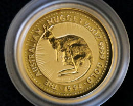 1994 Australian Gold Nugget 1/20 th 99.99 %   Pure gold Coin