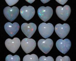 18 Cts Parcel  20 Heart  Shape Fire  Opals  code FO 1182