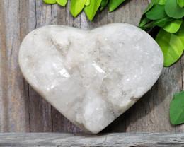 0.365kg Clear Quartz Druze Heart Specimen DS788
