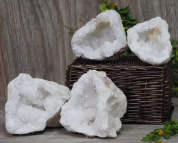 Natural Calcite Geode Pair – 2 Small Geodes Set N444