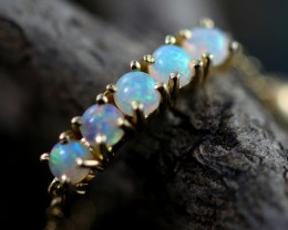 Crystal Opal set in 18k Yellow Gold Ring  Adjustable Size N    CK 656