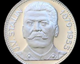 Silver 925 Proof medallion-Joseph Stalin Russia  code co735
