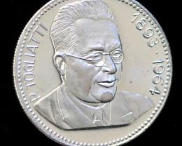 Silver 925 Proof medallion P. Toglitti Russia  Code Co 756