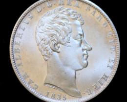 Silver 925 Proof medallion Car.Albertvs D.G Rex Sard Italy code co 743