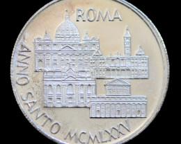 Silver 925 Proof medallion 1975  Pontif XXIII Maximum code co 757