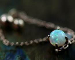 Crystal Opal set in18 k Rose Gold Ring Adjustable Size N CK 691