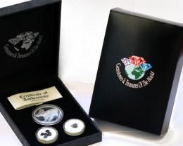 Treasures 2009 Koala Silver Coin & Sapphires  Coins set ATS 31/100