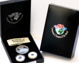 Treasures 2009 Koala Silver Coin & Sapphires  Coins set  ATS 17/100