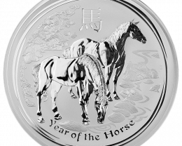 One Ounce  Year Of Horse 2014  99.9% pure silver  Perth Mint coin
