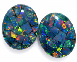 3.3 cts Australian Opal  Mosaic Triplets  FO 1499