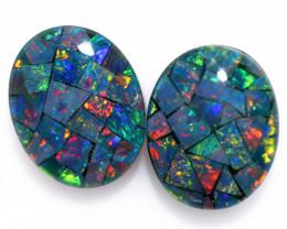3.3 cts Australian Opal  Mosaic Triplets  FO 1500