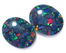 3.3 cts Australian Opal  Mosaic Triplets  FO 1503