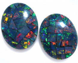 3.3 cts Australian Opal  Mosaic Triplets  FO 1504