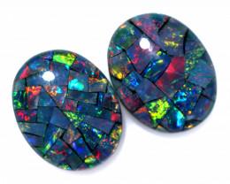 3.3 cts Australian Opal  Mosaic Triplets  FO 1507