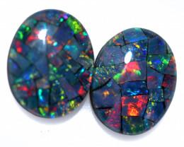 3.3 cts Australian Opal  Mosaic Triplets  FO 1508