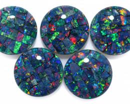 8 cts Australian Opal  Mosaic Triplets Parcels  FO 1528