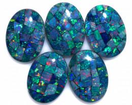 37 cts Australian Opal  Mosaic Triplets Parcels  FO 1561