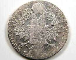 1780 Maria Theresa Silver Thaler Restrike Trade Coin CO 641