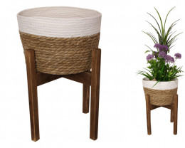 4 x 40cm Planter Basket on Stand   code C-BASKPLM