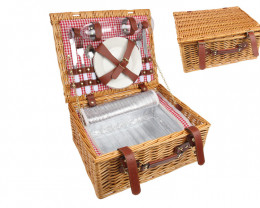 38cm 2Person Insulated Picnic Basket   code C-PICNIC2