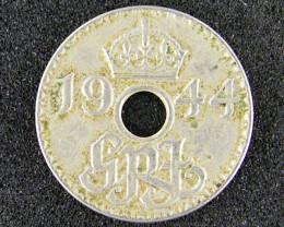 BRITISH  TERRITORY NEW GUINEA THREE PENCE 1944 OP936