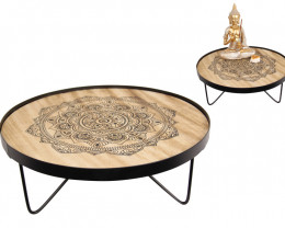 35cm Beautiful Patterns Mandala Side Table   code C-MANROUTB