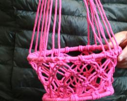 85cm Electric Pink Macrame Pot Holder code C-MACPPAS